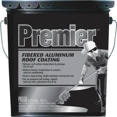 Premier 5 Gal. Fibered Aluminum Roof Coating