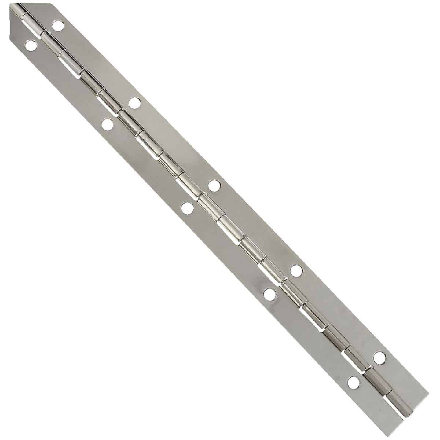 National Steel 1-1/16 In. x 12 In. Nickel Continuous Hinge Image 1