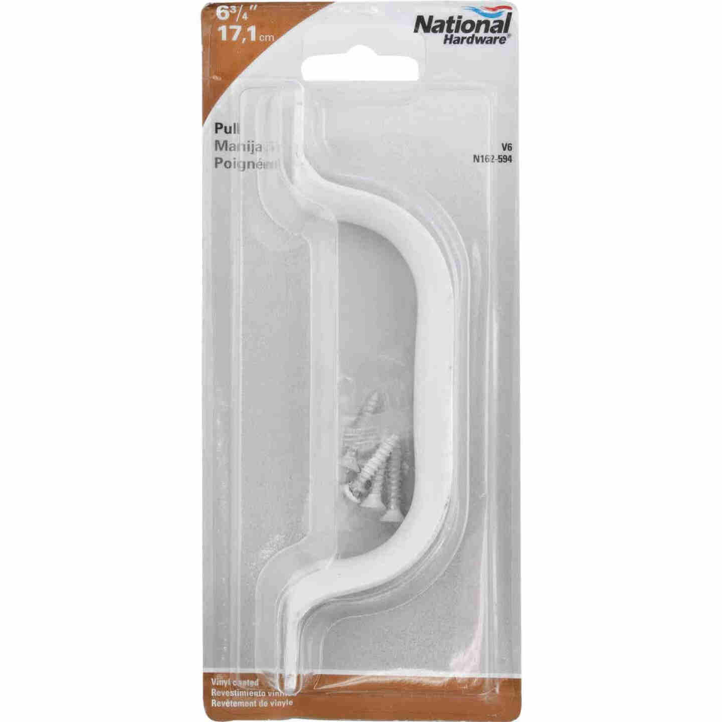 National 6-3/4 In. White Vinyl Coated Zinc Door Pull Image 2