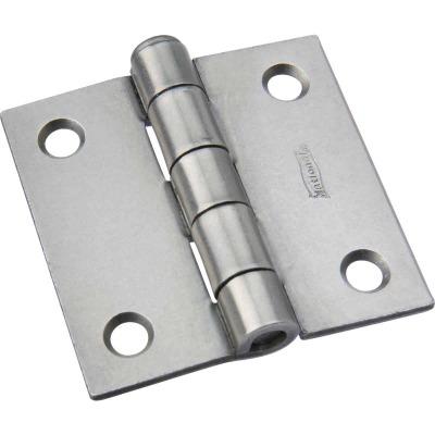 National 2 In. Square Plain Steel Broad Door Hinge