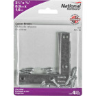 National Catalog 117 3-1/2 In. x 5/8 In. Zinc Flat Corner Iron (4-Count) Image 2
