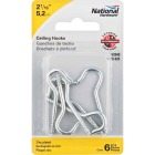 National #10 Zinc Finish Ceiling Hook (6 Pack) Image 2