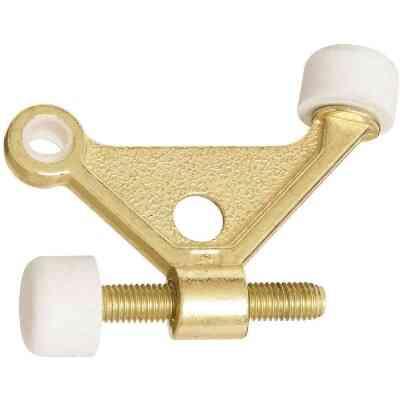 National Bright Brass Zinc Hinge Pin Door Stop