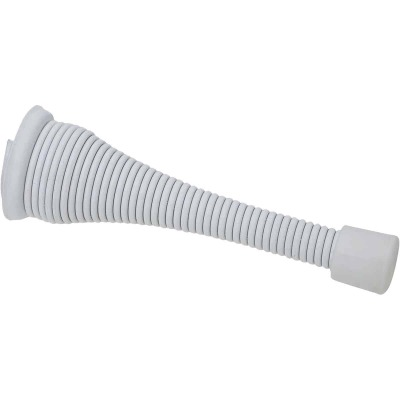 National White Broad Spring Door Stop