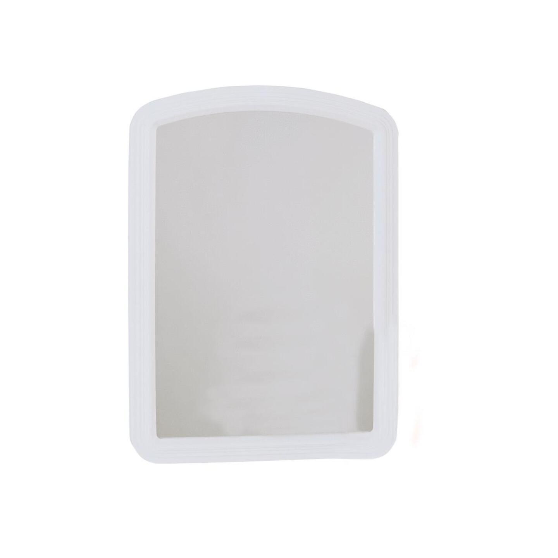 Erias Home Designs Macau 16 In. W. x 22 In. H. White Framed Wall Mirror Image 1