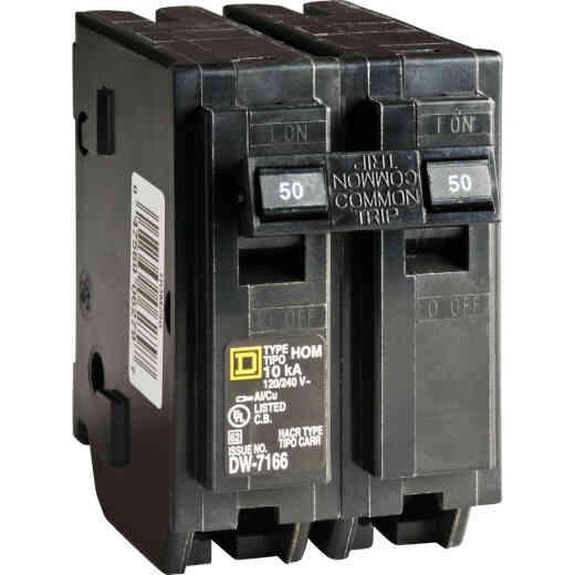 Square D Homeline 50A Double-Pole Standard Trip Circuit Breaker